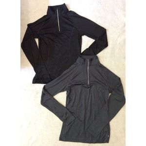 2 Danskin Now Womens Fitted Pullover Jacket Shirt